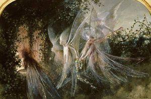 Fairies At A Window - (John Anster Fitzgerald)