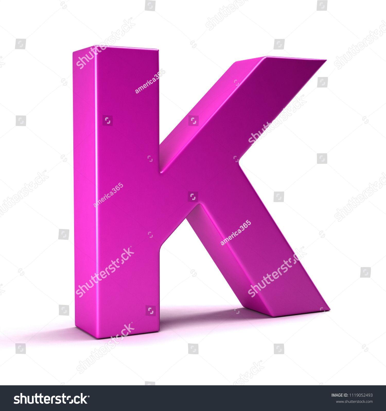 Letter K Initial Girl Pink color. #alphabet #letter #font #symbol ...