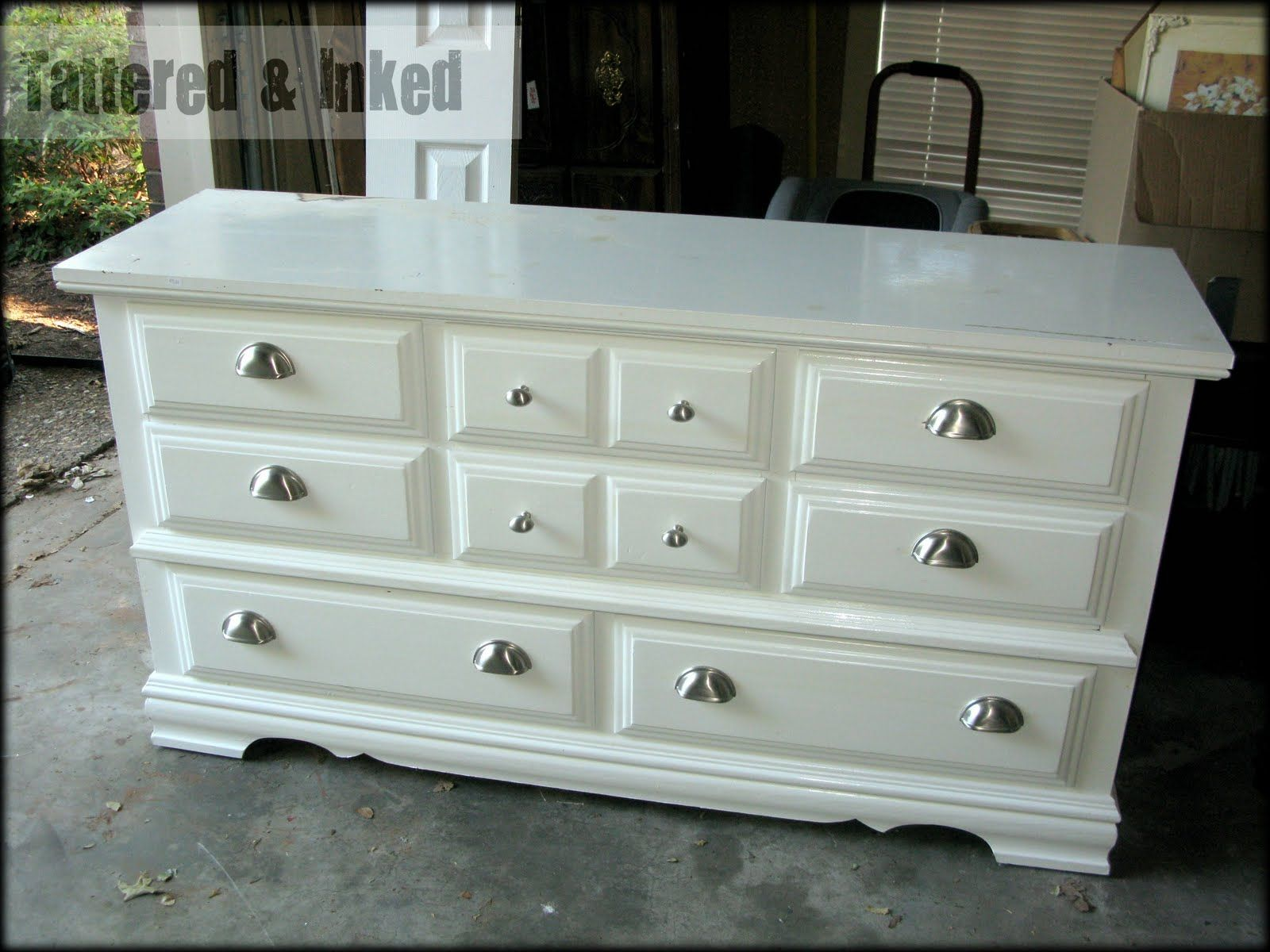 Best Tattered And Inked Black White Distressed Dresser Up 640 x 480