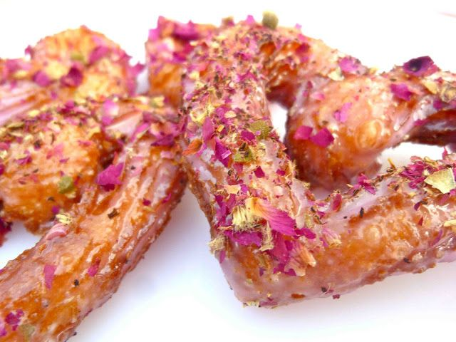 Heart Shaped Rose Petal French Crullers