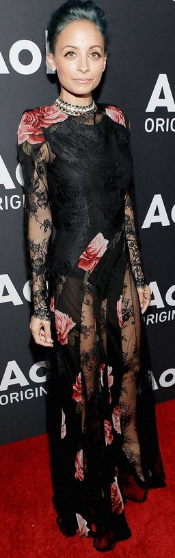 Nicole richie black lace dress