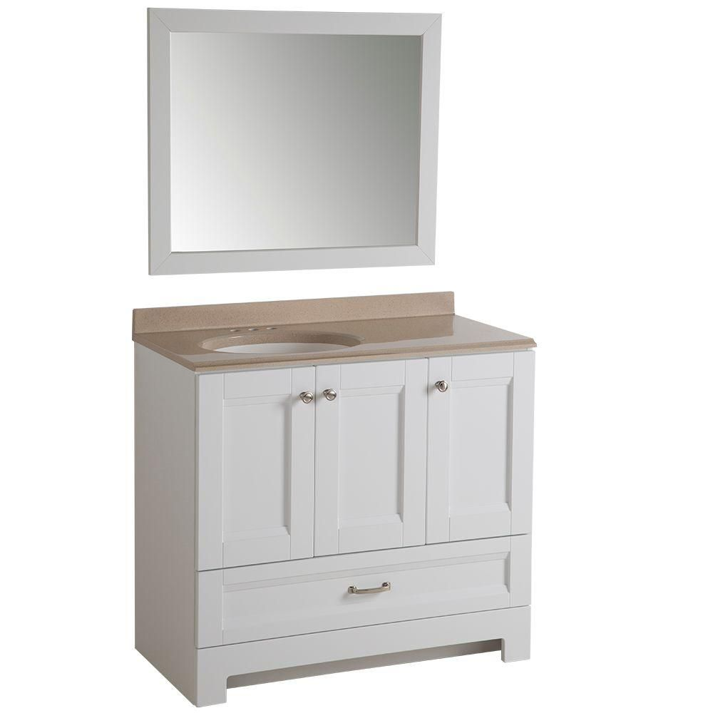 Ivy Hill Apartments: Glacier Bay Ivy Hill 36 In. Vanity In White With
