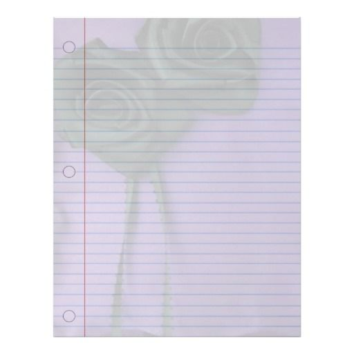 Black Roses Goth Notebook Paper Letterhead Template Goth to School