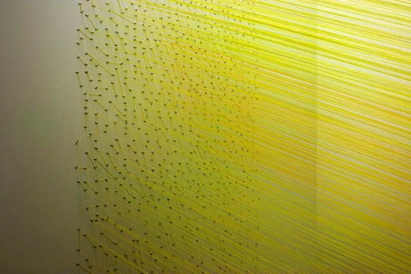 Anne Lindberg string installation colors