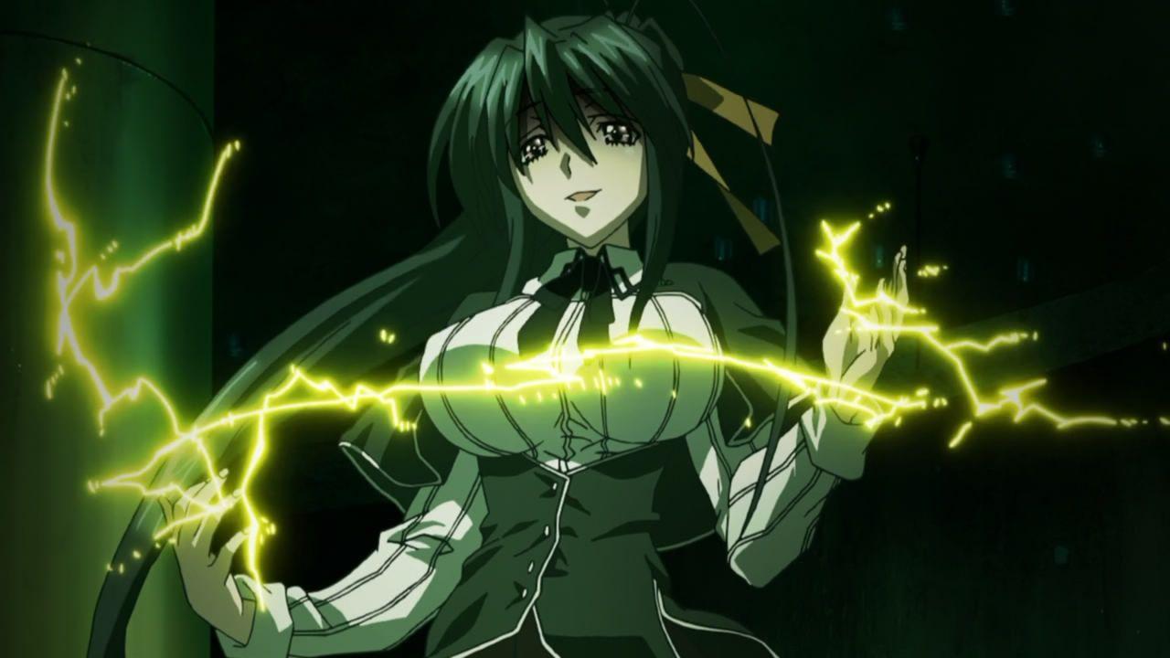 Akeno From Highschool Dxd Using Her Sadistic Sith Lighting Power