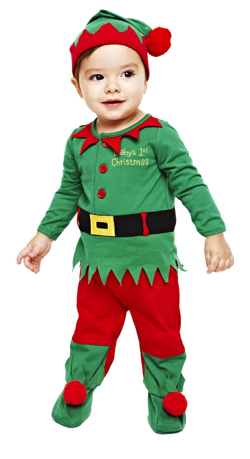 Okie dokie elf coveralls with hat for the kids - Duendes navidenos disfraces ...