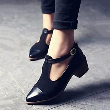 Shoes For Women Fabric Chunky Heel Pointed Toe Pumps Casual More Colors