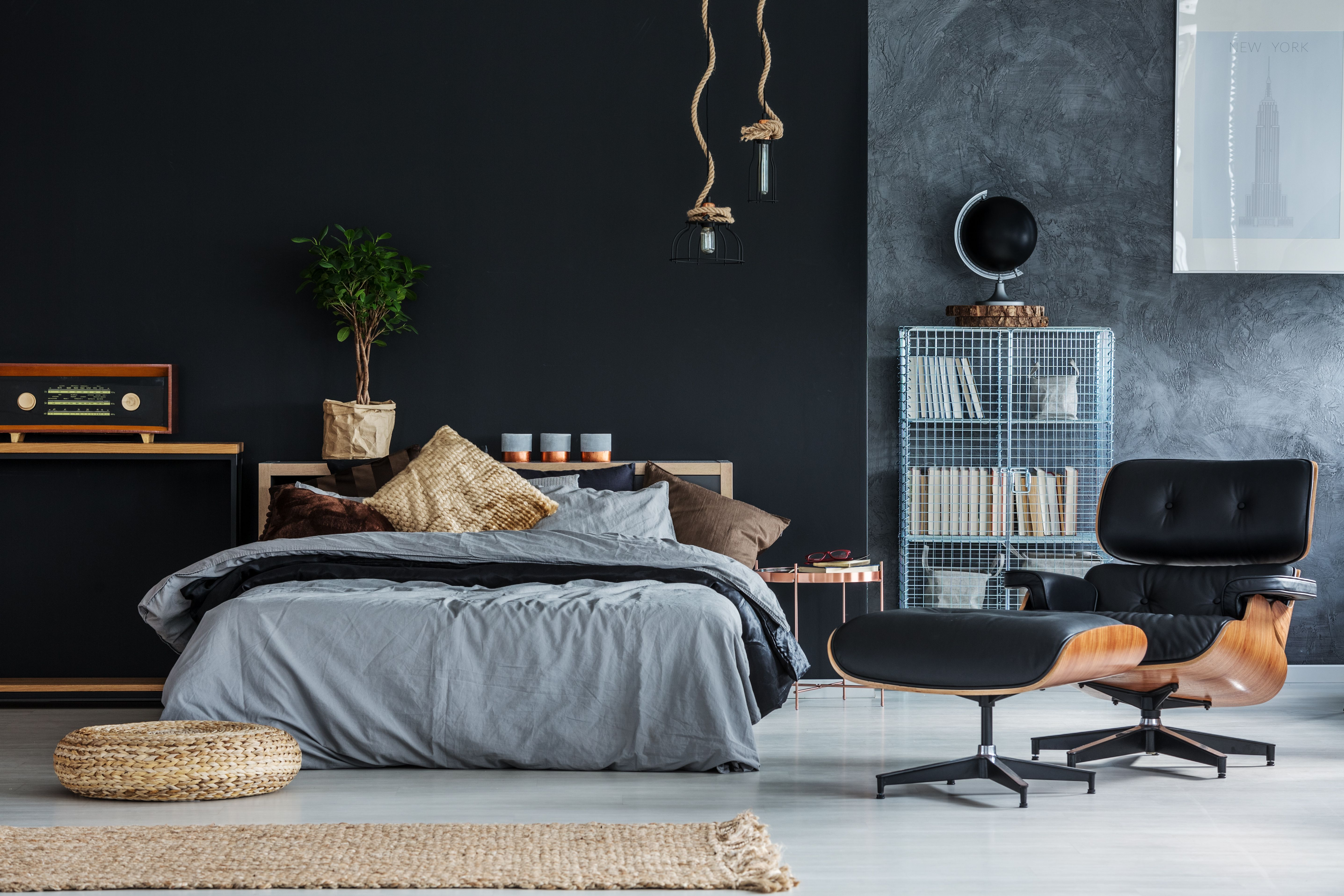 Cotton Organic Sheets Grey Bedroom Interior Home Furniture