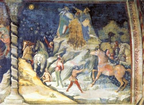 Image result for The Appearance of the Star, c. 1412, Fresco, Basilica di San Petronio, Bologna