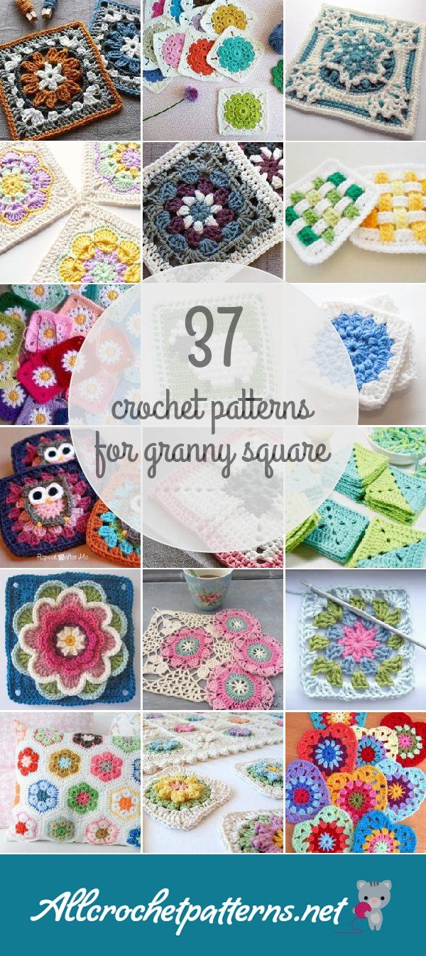 Crochet Patterns For Granny Square | мотивы узоров | Pinterest | Costura