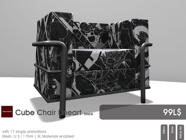 22769 ~ [bauwerk] Cube Chair Lineart for the Mens Dept July | Flickr - Photo Sharing!
