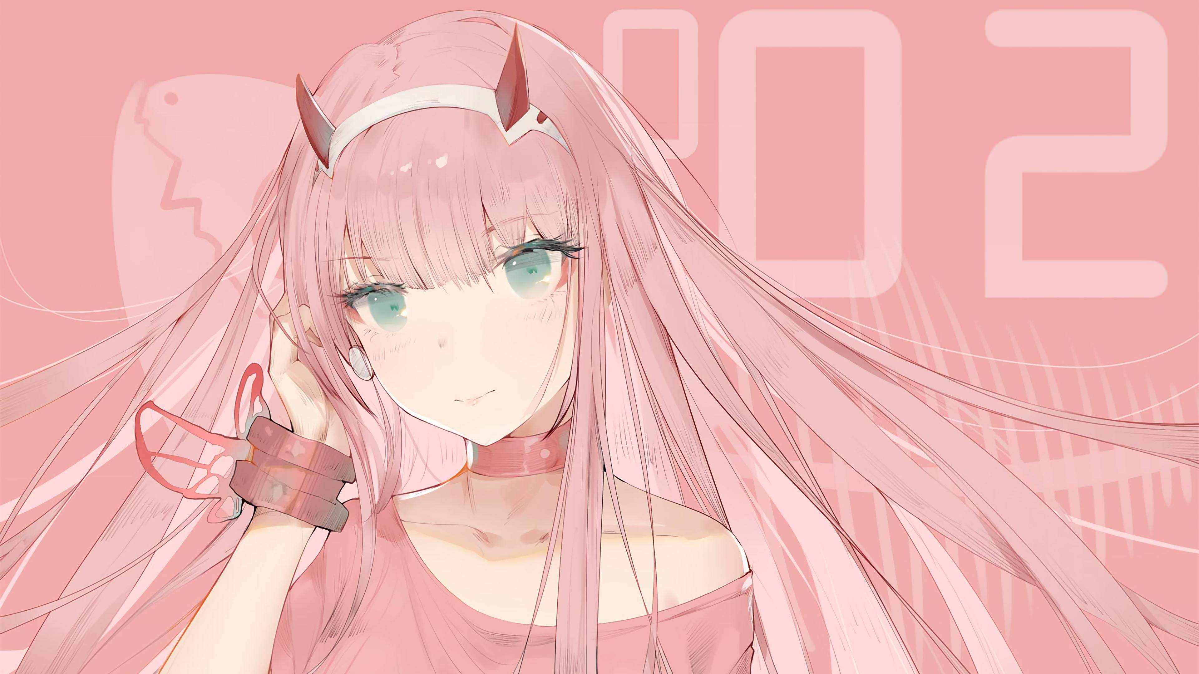Zero Two Darling In The Franxx 4k Hd Wallpapers Digital Art Wallpapers Darling In The Franxx W Anime Computer Wallpaper Darling In The Franxx Anime Wallpaper