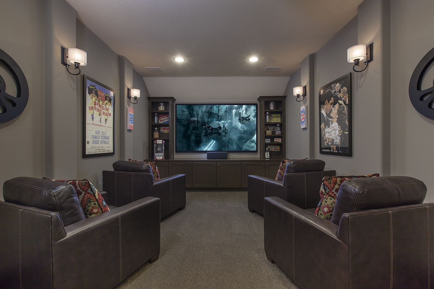 Coventry Homes | Media room in Fulbrook on Fulshear Creek #mediarooms