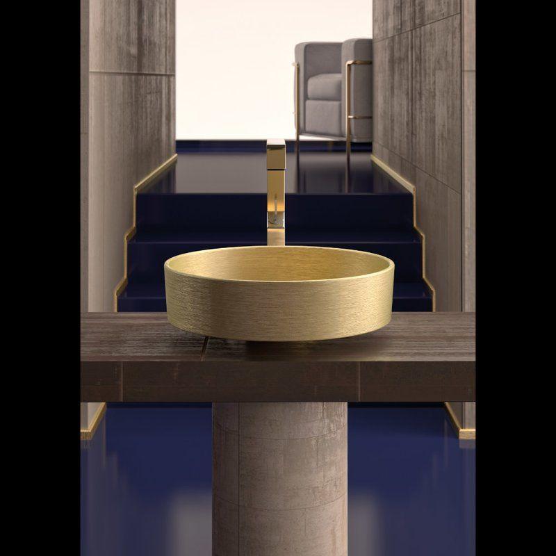 Metropole Handmade Circular Vessel Bathroom Sink In 2021 Bath Sinks Sink Glass Design