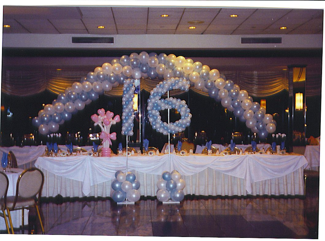 winter sweet 16 party decoration ideas Columns and Sculptured