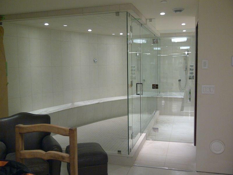 Badewanne Dusche Türen Rahmenlose Glas Badewanne