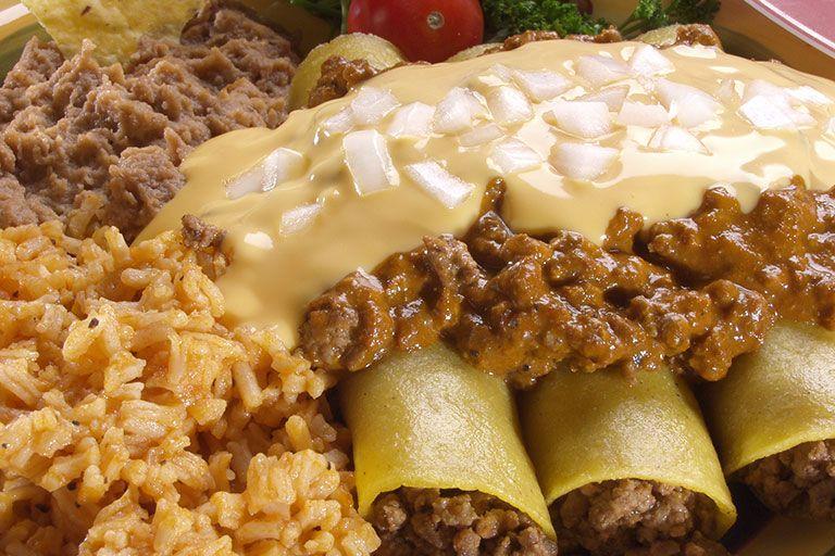 Cheesy Beef Enchiladas Recipe Beef Enchiladas Mexican Food Recipes Recipes