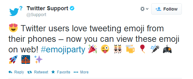 Twitter Com Now Supports Emoji Characters Twitter For Business Social Media Love Tweets