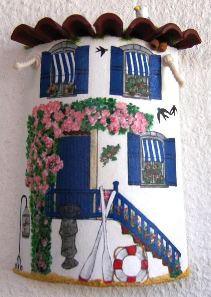 Sandylandya Outlook Es Casa De Praia Tejas Decoradas Crafts