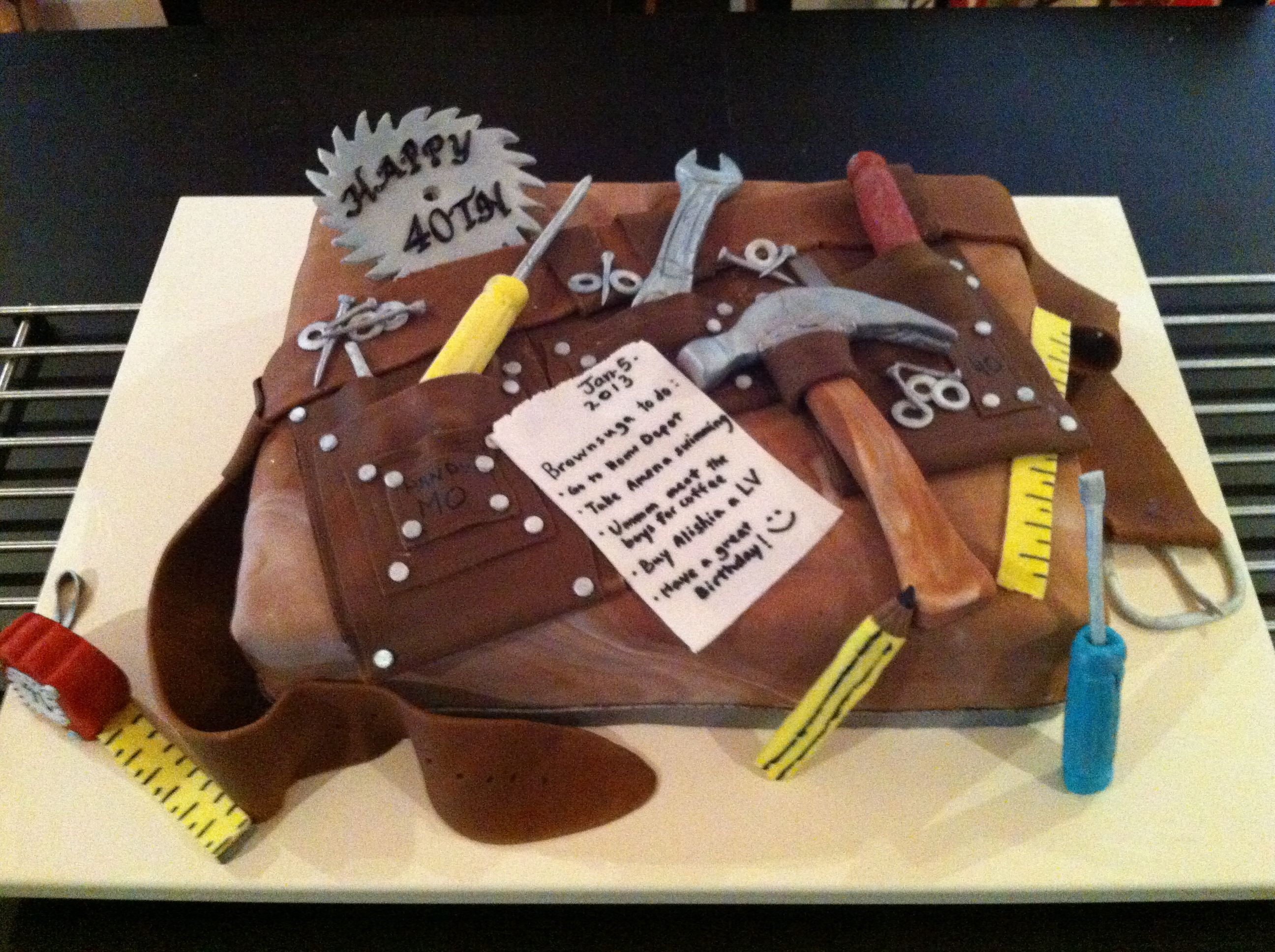 Mohamed S 40th Birthday Tool Belt Cake Fathers Day Cake Cake
