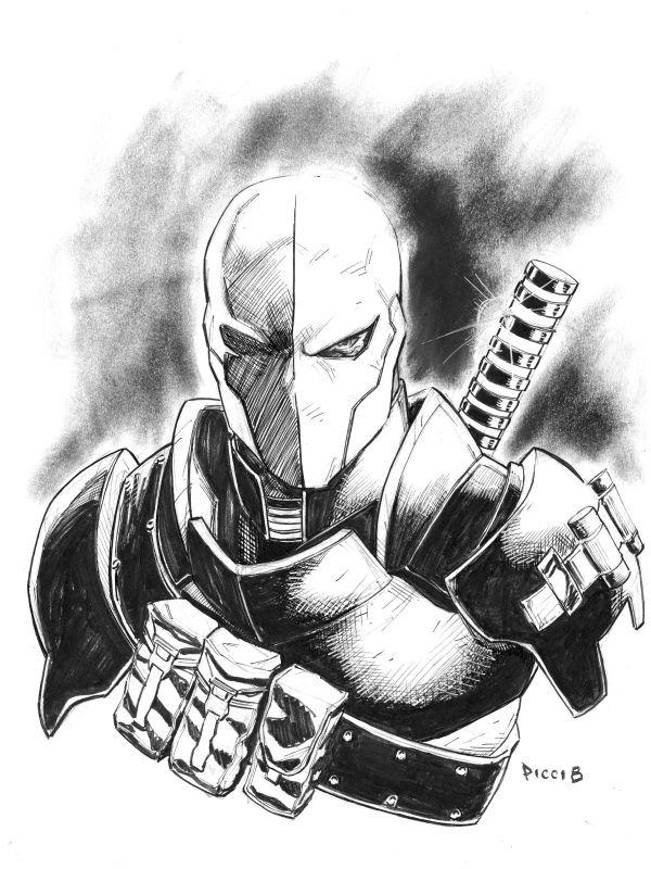 Deathstroke Daniel Picciotto Deathstroke Deadshot Art Comic Art