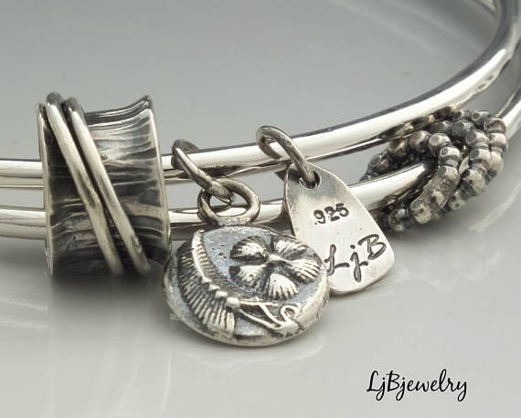 ru charm p sterling products bracelet silver rutgers bangles bangle adjustable