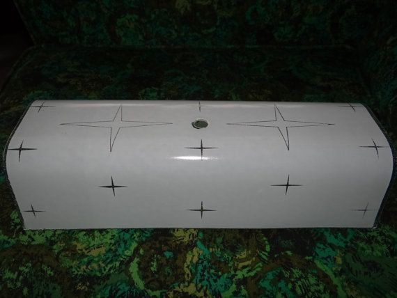 Merveilleux This Fantastic Glass For Bathroom Light Fixture Is A Wonderful Atomic Star  Pattern. No Cracks Or Chips. Measures 12x5 And Would Stick Out 3