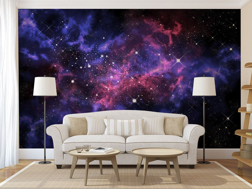 Blue Amp Purple Galaxy Wall Mural Self Adhesive Peel And