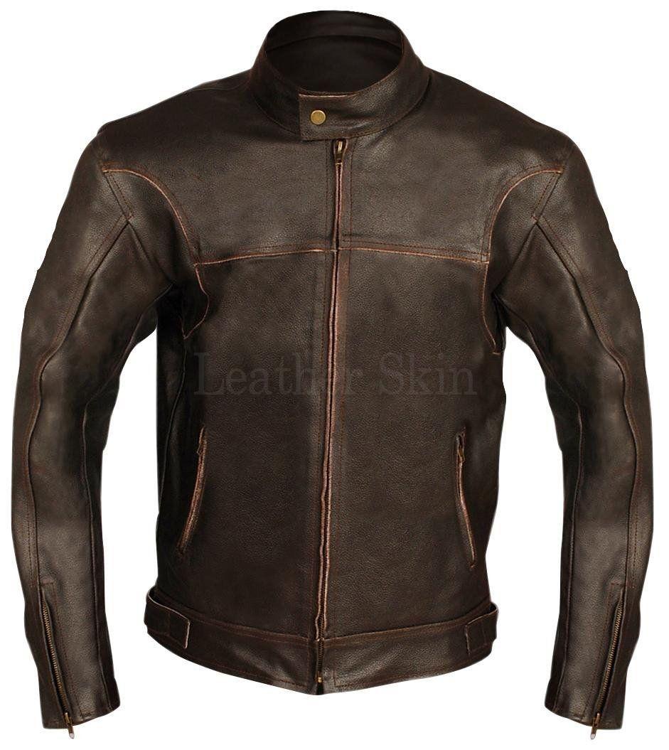 Leather Skin Brown Biker Motorcycle Premium Genuine Leather Jacket Leather Jacket Genuine Leather Jackets Leather Jacket Men [ jpg ]