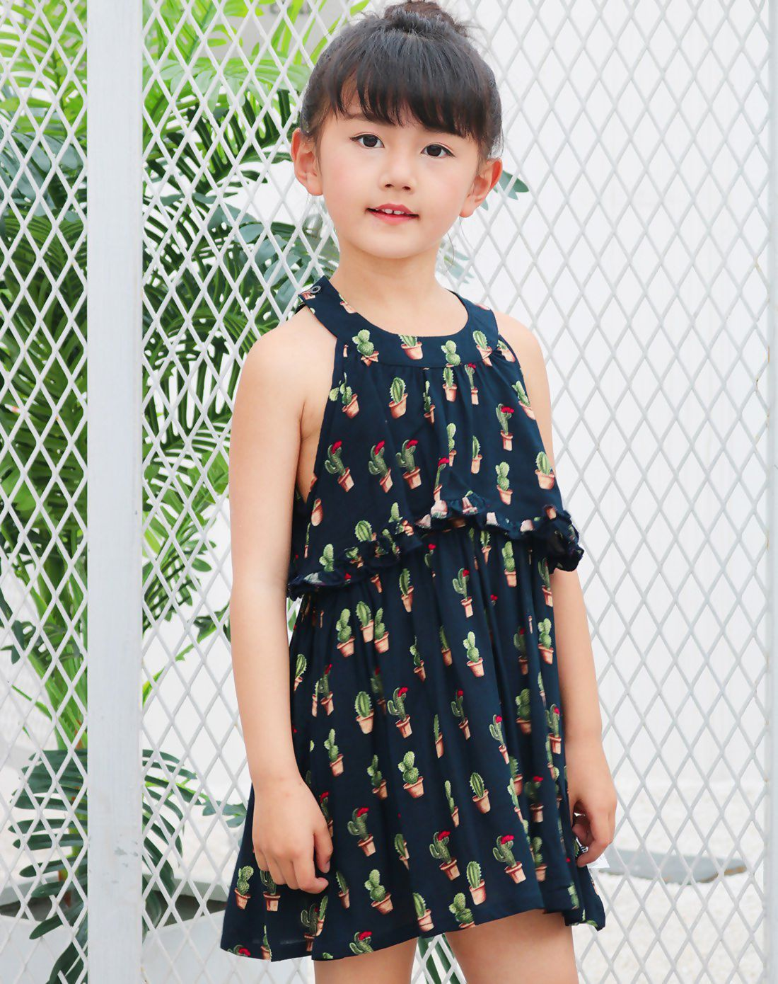 a720779da351  VIPshop Dark Blue Summer Floral Vest Girls  Dresses ❤ Get more outfit  ideas and style inspiration from fashion designers at VIP.com.
