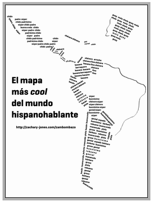 """Really """"cool"""" map of Latin America."""