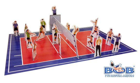 voleibol jugadores en cancha