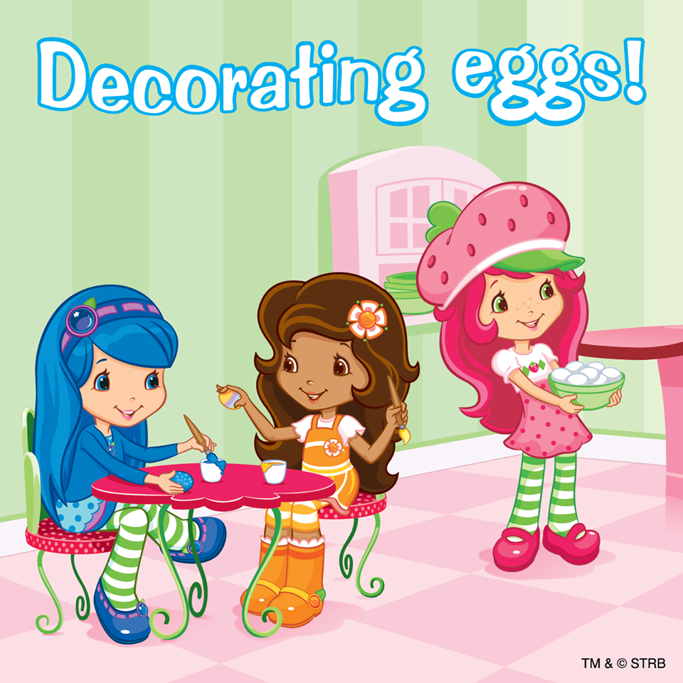 Decorating eggs! | Strawberry Shortcake | Pinterest