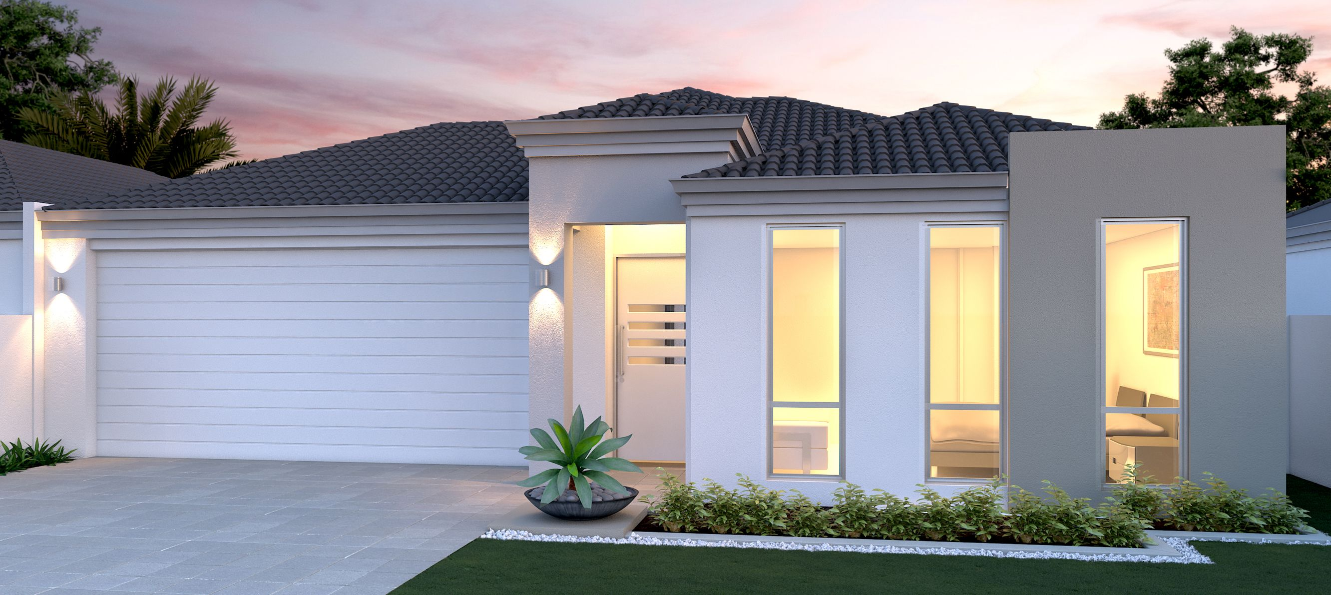 Home ideas minimalist contemporary white gray house design facade