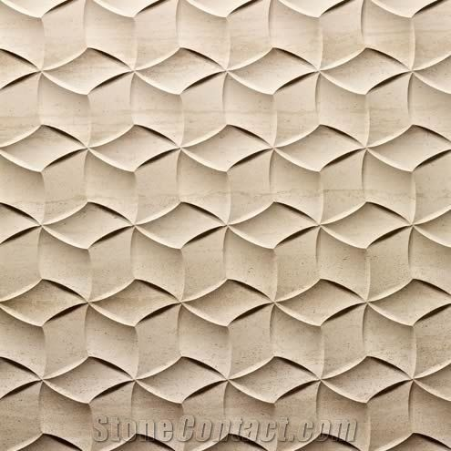 3d Cnc Beige Carving Stone Panel Beige Marble Building Walling Azulejos Hechos A Mano Textura De Ceramica Disenos De Unas