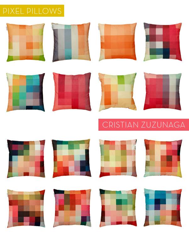 pixelated pillows
