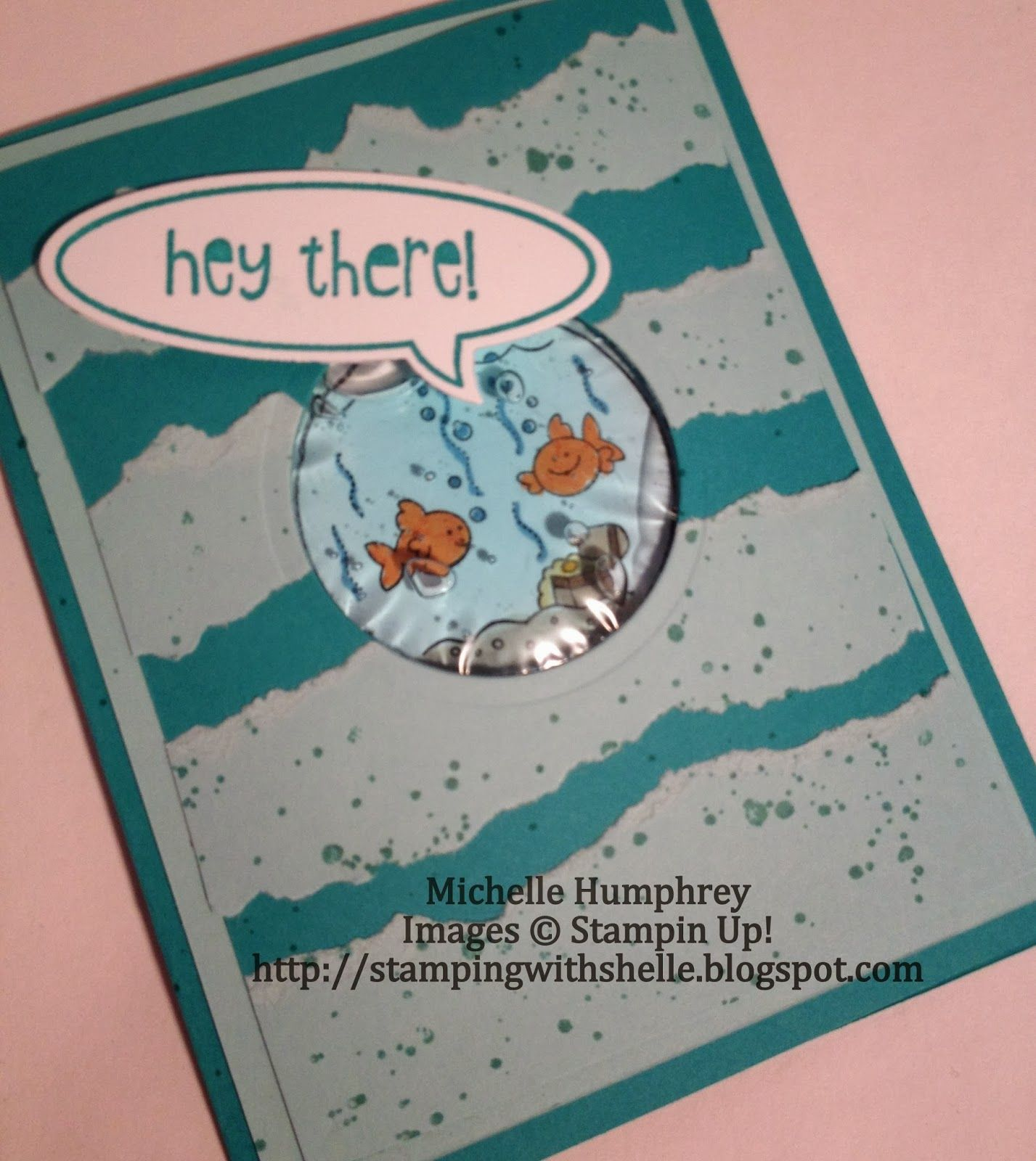 Stamping with Shelle: Fishin Around Hair Gel Card