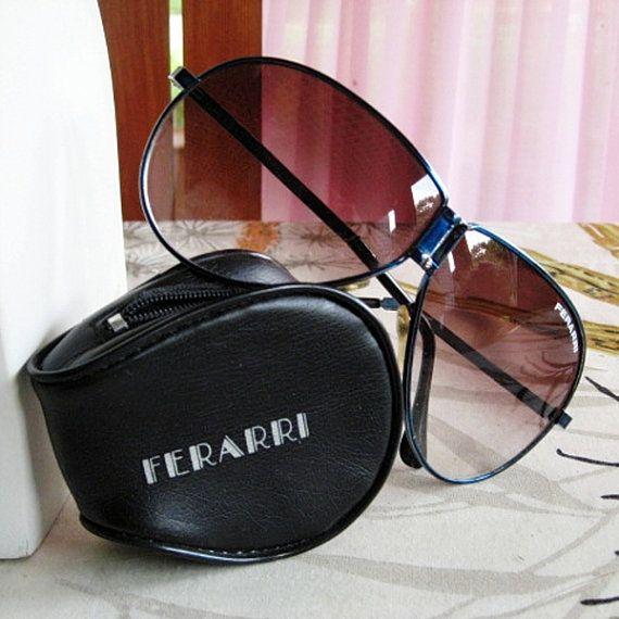 80s Vintage Ferrari Oversized Aviator Folding Sunglasses With Case Oversized Aviators Sunglasses Vintage Sunglasses Store