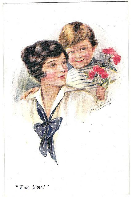 Vintage Postcard    Vintage postcard, For you