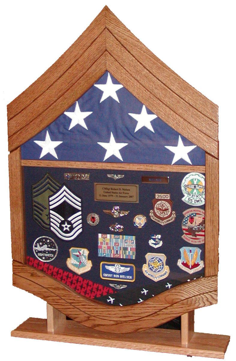 Air Force Chief Master Sergeant (E9) Shadow Box by