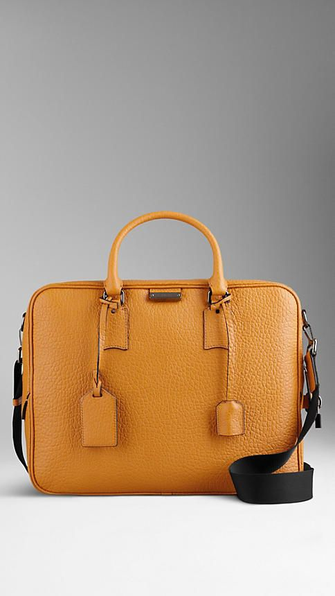 Heritage Grain Leather Briefcase | Burberry