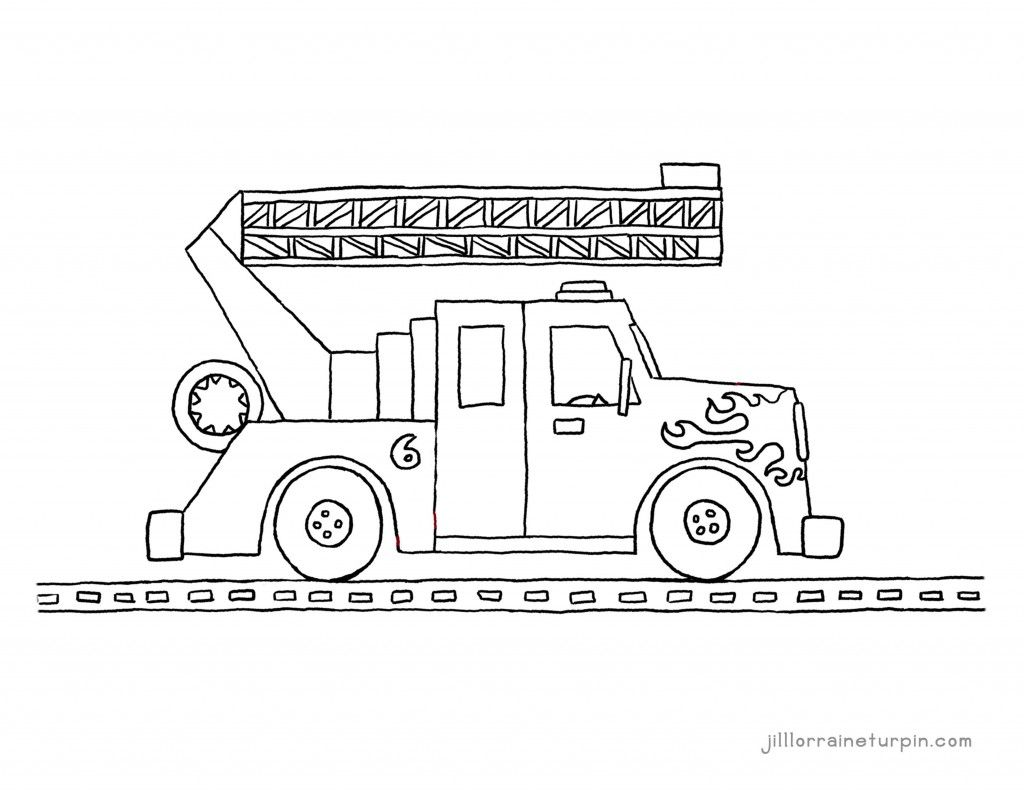 Free printable pdf fire truck coloring pages from My Very Own Fire ...