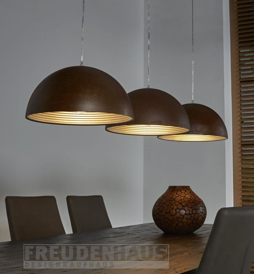 ... Rusty Iron Lampe Warme Farben Mit Kühlem Material   Die Hängeleuchte  Rusty Iron Beweist Ihr Doppeltes Können! Stilsichere Illuminierung Für Den  Esstisch ...