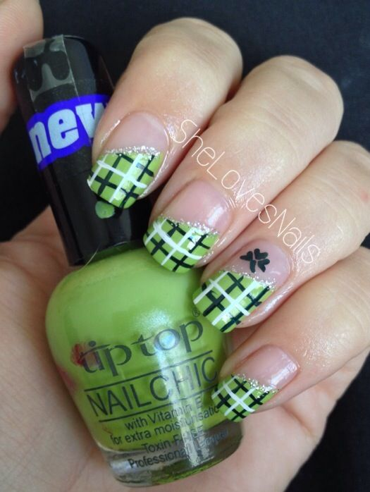Green Nail art for Saint Patrick\'s Day. By SheLovesNails. Design ...