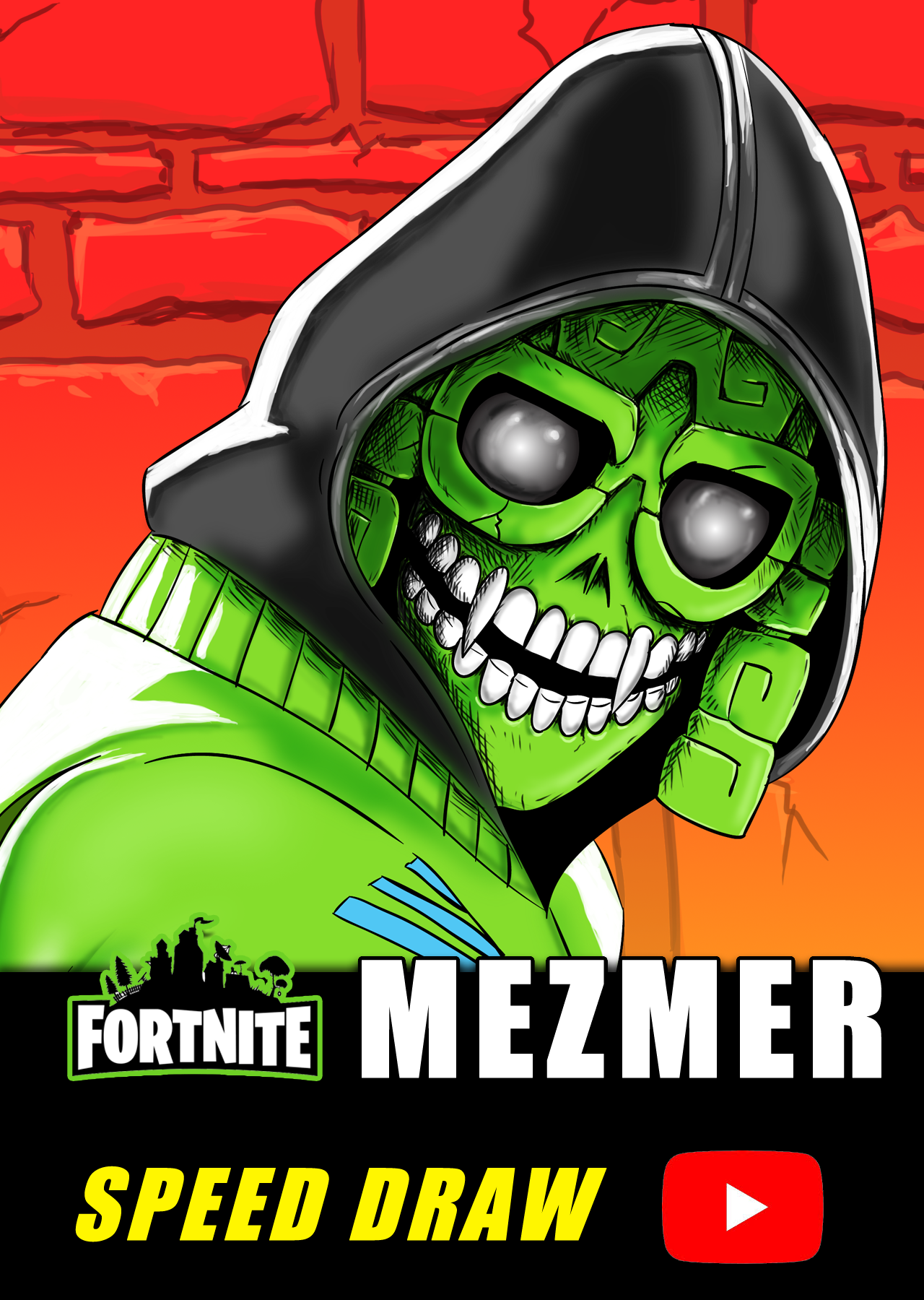 Speed Draw Of Mezmer From Fortnite Chapter 1 Season 8 In 2021 Fortnite Draw Speed Paint