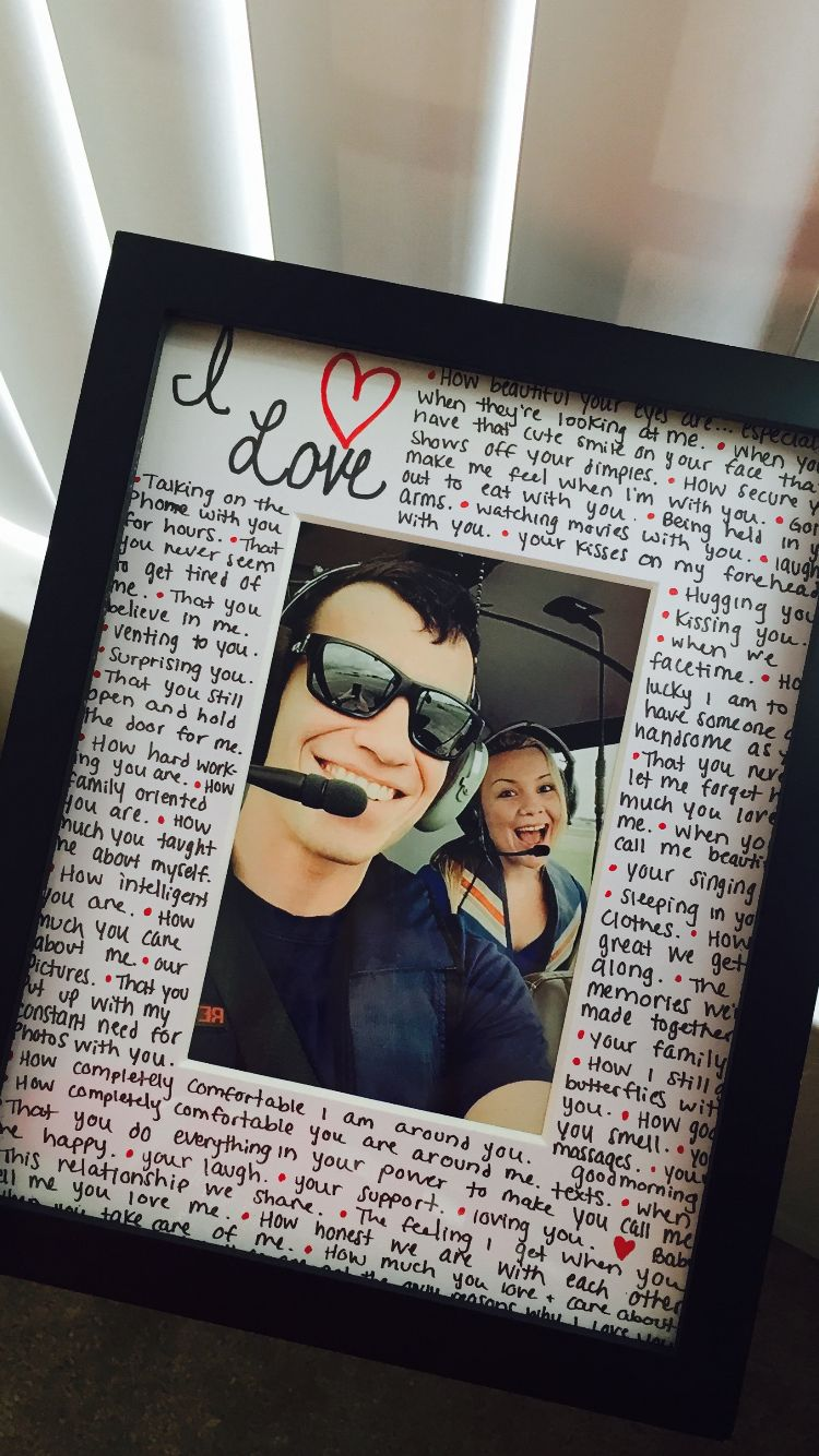 Reasons Why I Love You Photo Frame Creative Ideas Pinterest Gift Boyfriends And Anniversaries