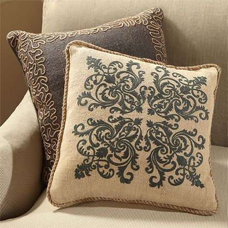 Daisy flower embroidered pillows for couch pastoral style linen cushions