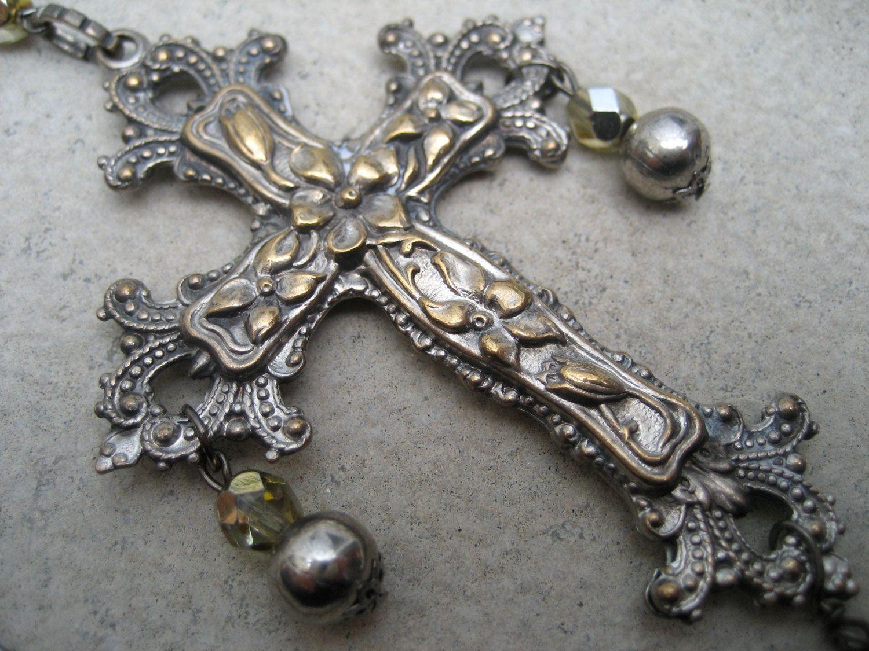 Cross Necklace 1920s Via Etsy