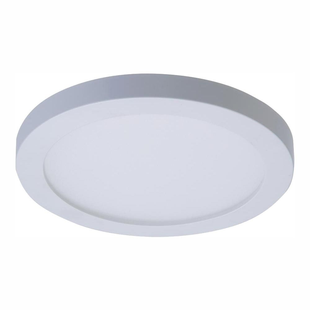 Halo Smd 4 In 3000k Warm White Integrated Led Recessed Round Surface Mount Ceiling Light Trim With 90 Cri Smd4r6930wh The Home Depot Surface Mount Ceiling Lights Recessed Lighting Ceiling Light Fixtures