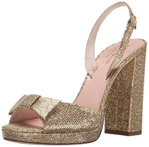 kate spade new york Women's Briana Dress Sandal, Gold Starlight, 7.5 M US *